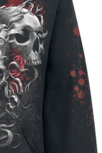 Spiral Skulls N' Roses Kapuzenpulli schwarz Schwarz
