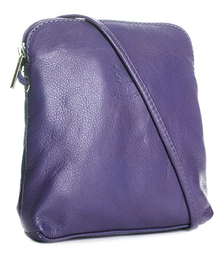 Big Handbag quaie, mini donna a portata di mano per cross-il corpo è realizzato in pelle italiana Medium Purple
