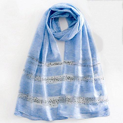 serviette de plage Echarpe double châle écharpe à manches longues en soie ( Couleur : E ) A