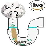 FIBOUND ducha drenaje pelo Catcher(paquete de 10 unidades)– nunca limpiar un Satura drenaje de nuevo,para evitar atascos, retirar el pelo y protección frente atoramientos.