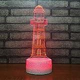 3D Lampara Led Luz Ilusión óptica Botón táctil color o 7 colores cambiar gradualmente Decoración del dormitorio del bebé regalo del día de San Valentín sueño asistido faro