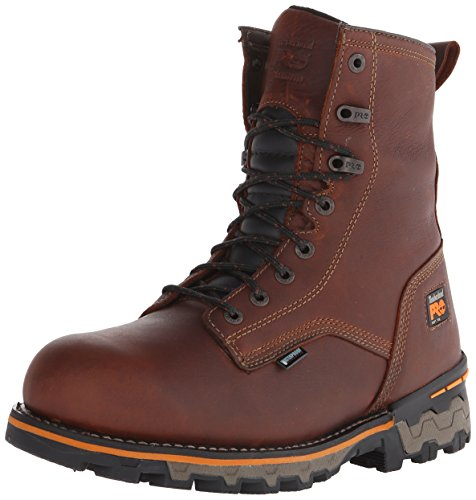 Timberland PRO Men's 8 Inch Boondock Soft Toe WP Work and Hunt Boot, Brown Tumbled Leather, 13 W US Wp Work Boot