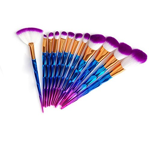 1 Cent Artikel 20 Stück Makeup Pinsel Set , Yogogo Make up Pinsel Tools Make up Körperpflege Set Wolle (Lila 1)