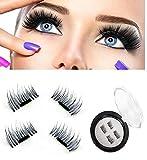 SOZZUMI Handmade Natural 3D Magnetic Thick Long False Reusable Eyelashes Extension(SMALL)