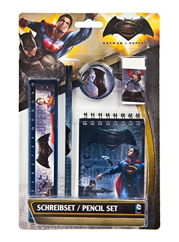 Set composto da 5 pezzi per la scrittura - Batman vs. Superman