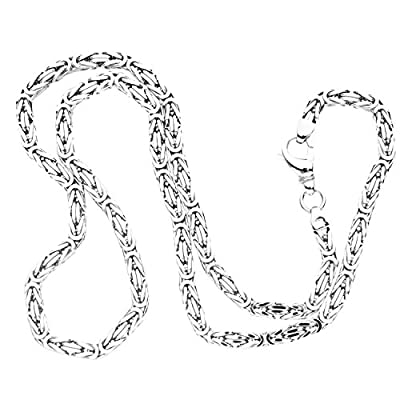 925 Sterling Silver Bling Chain - BYZANTINE 6x6mm