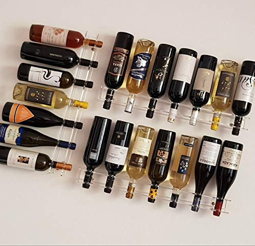 Slato portabottiglie porta bottiglie di vino a parete design moderno in plexiglass trasparente blenda