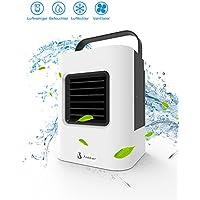 Climatiseur Portable Ventilateur Mini Climatiseur Humidificateur Purificateur Mobile Refroidisseur D'air Ventilateur évaporatif Ventilateur USB Climatiseur Réglable d'Espace 4 EN 1Mini Climatiseur (Noir et Blanc)