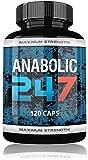 Anabolic 24/7puissant Testostérone Booster Renforcement Musculaire pour les hommes | 120Comprimés Tribulus terr estris + Creatin Cure + Avena Sativa + Beta ecdyst erone | rapide Muscles aufbauen