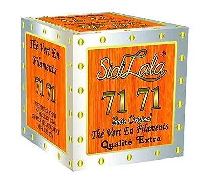 Sidi Lala 7171 - Thé Vert en Filament - Préparation de Thé Marocain - Boîte de 200 gr