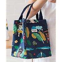 Yudanwin Leinwand-Lunch-Tasche Tragbare koreanische frische Isolierung wasserdicht Lunch Bag (dunkelblau) preisvergleich bei kinderzimmerdekopreise.eu