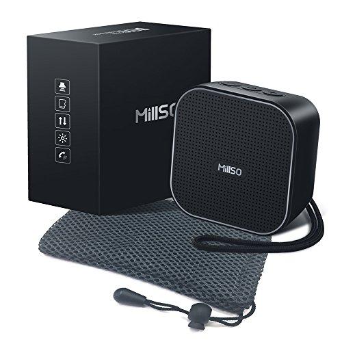 MillSO Mobiler Tragbarer Bluetooth 4.2 Lautsprecher Drahtloser Lautsprecher mit Schutztasche für Outdoor-Aktivitäten, Sport, Reisen, Hiking, Strandurlaub
