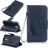 Nancen Huawei Y625 (5,0 Zoll) Ledertasche Flip Case/Handyhülle, Federn und Vögel Muster Bookstyle Design Cover/Etui/Handy Zubehör Schutzhülle mit Standfunktion, Brieftasche und Karte Tasche