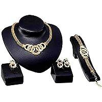 Liquidazione offerte, Fittingran Liquidazione Collana + Orecchini + Bracciale + Anelli Gioielli Set Collana da Donna…