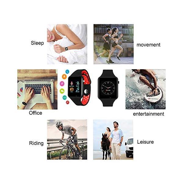 Dr.Haer Reloj Inteligente, M3 Smartwatch Bluetooth Deporte Fitness Tracker con Monitor de Pulso Cardiaco,Rastreador de Ejercicios para iOS, Android Phones,etc 7