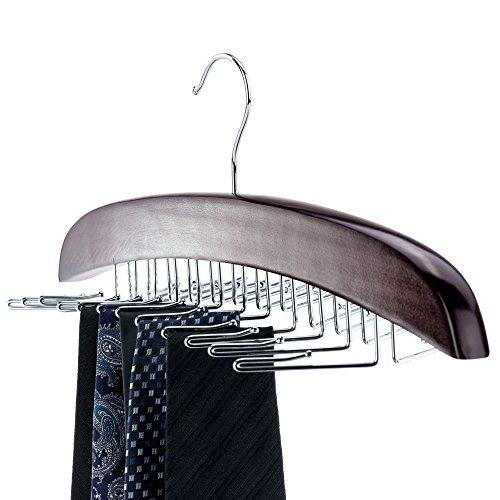 Mahagoni-mantel (HANGERWORLD Premium Mahagoni Holz Schalbügel 10 Schals Kleiderbügel Glatte Oberfläche)