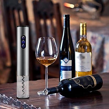 Elektrischer-KorkenzieherSunvito-Auto-Corkscrew-Geschftlichen-Bequem-Weinflaschenffner-mit-Freiem-Folienschneider-Aluminiumlegierung-Schnurlosein-ideales-Geschenk-fr-Weingeliebtedie-lteren-Menschen-Fr