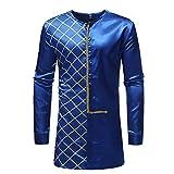 Herren Oberteile,TWBB Winter Vintage Luxus afrikanisch Gedruckt Pullover Sweatshirt Lange Ärmel Shirt
