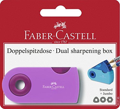 Faber-castell 182795–doppio temperamatite sleeve trend, temperamatite, colori assortiti