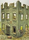 Haus-Modell Maßstab 1:35~ Ruinen-Hauseck –Militär-/Diorama-Modellbausatz