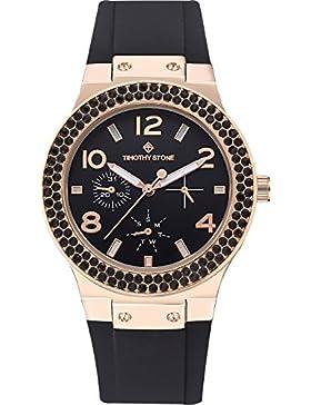 Timothy Stone FAÇON SPORT damenuhr - Armbanduhr Analog Quarz, Farbe Roségold / Schwarz 39mm Damenuhren