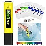 Mture PH Tester Misuratore Digitale, PH Tester Alta Precisione con LCD misuratore Digitale Gamma 0.00-14.00 Penna PH Piaccametro Tascabile per acquari, Piscine, Acqua, Laboratorio