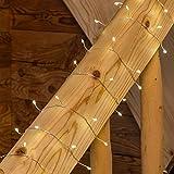 LuminalPark - Guirnalda de Luces, 12 m, 240 MicroLED luz cálida, juego de luces, cableado metálico plateado, Luces de Navidad aptas para exteriores