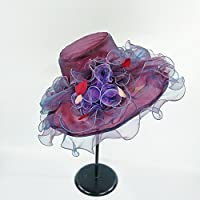 LAIKASHI Summer Hat,Wine red