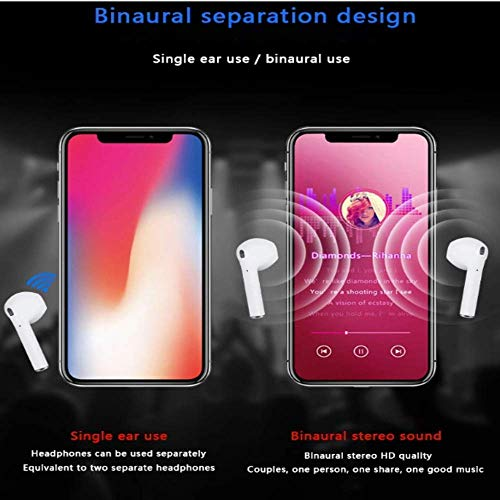 Lizzie i11 5.0 Wireless Earphone with Portable Charging Case Supporting All Smart Phones and Android Phones with Sensor Image 5