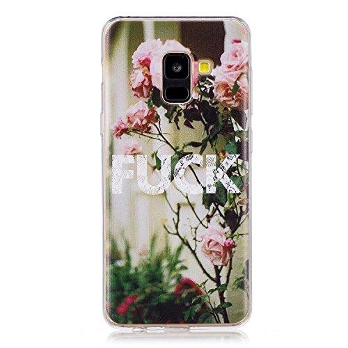 Cozy Hut Samsung Galaxy A8 2018 hülle,Samsung Galaxy A8 2018 Case, Kratzfeste Plating TPU Silicone Case Schutzhülle Ultra Dünn Tasche für mit Samsung Galaxy A8 2018 Hülle Case Transparent - FICK