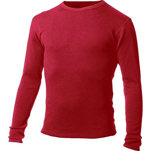 MINUS33Merino Wool Men' s Chocorua mid-weight girocollo a maniche lunghe True Red