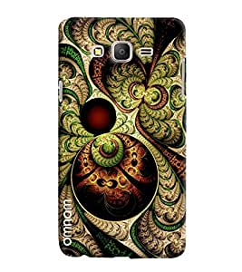 Omnam Green Old Effect Printed Designer Back Case Samsung Galaxy On 7