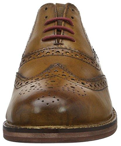 Ben Sherman Oxford Burnish, Scarpe Stringate Basse Brogue Uomo Marrone (Brown (Tan 003))