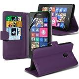 ONX3 ( Purple ) Nokia Lumia 630 Cuoio di vibrazione del raccoglitore del basamento della copertura della cassa della pelle Con Schermo LCD