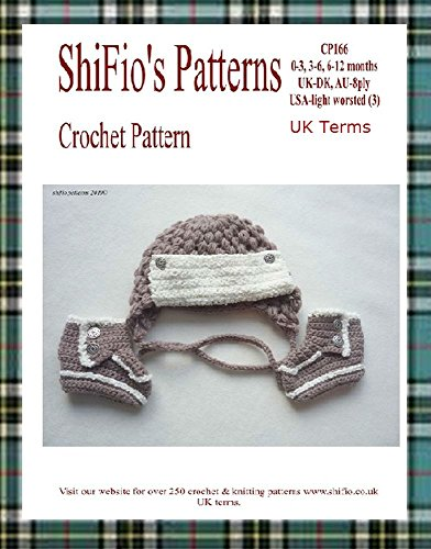 Crochet Pattern - CP166 - Trapper Baby Hat and  Booties - 0-3, 3-6, 6-12mths - UK Terminology (English Edition) Baby Trapper