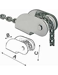 Osculati Davier de proue en inox - 270 x 54 x 80 mm - pour ancres jusqu'à 10kg