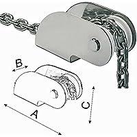 Puntera de proa Osculati de acero inoxidable - 270 x 54 x 80 mm - Para anclas de hasta 10 kg