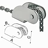 Osculati Edelstahl Bugrolle - 220x54x80mm - für Anker bis 7,5kg