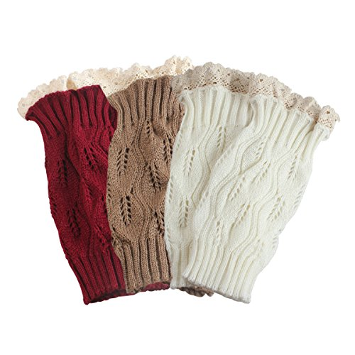 tqstm-set-de-3-knit-boot-leg-warmer-topper-cuff-bootsock-dentelle-en-crochet