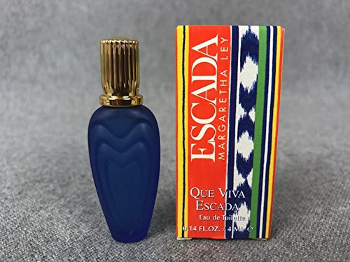 Miniatur Escada Margaretha Ley Inhalt 4ml Eau de Toilette Sammler QUE VIVA ESCADA - 4 Ml Eau De Parfum Spray