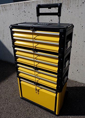 Metall Werkzeugtrolley Werkzeugkasten Werkstattwagen XXL Type: 305/3B1D von AS-S - 2