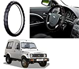 #10: Auto Pearl - Adinox Premium Quality Ring Type Car Steering Wheel Cover (Gold Full Cola) For -Maruti Suzuki Gypsy King