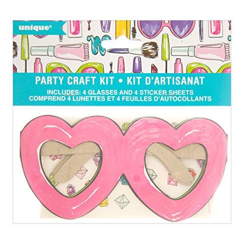 Unique Party 72520DIY Herz Gläser Spa Party Craft Kit für 4