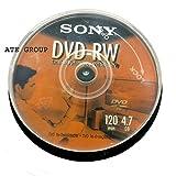 Sony 100% Original DVD-RW 4.7GB 120min Re-Writable DVD 10 Pack MAXTRONICS™