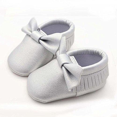 Hongfei Unisex rutschfeste Kleinkind Baby Schuhe mit Bowknot Quasten weiche Sohle -