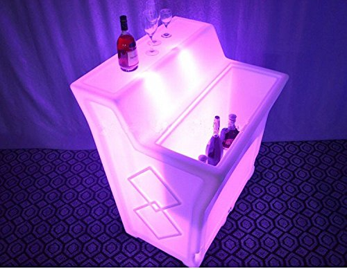 Preisvergleich Produktbild Gowe Mehrfarbig Wiederaufladbare LED-gerade Jumbo Bar Zähler IR Control Luminous Break Line Slide Studio Light Möbel SmartBar