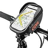 Rahmentaschen Fahrrad, Fangeek Fahrradtaschen Wasserdicht Rahmentasche Oberrohr Fahrrad Handyhalterung für iPhone 7 Plus/6s Plus/6 Plus/Samsung s7 edge andere bis zu 6 Zoll Smartphone, Farhradlenkertasche, für alle Fahrradtypen geeignet