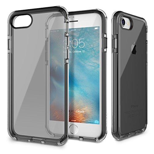 iPhone 7 Custodia ROCK Pinhen Apple iPhone 7 Case Custodia Silicone Gel Gomma TPU Cover Shock-Absorption Bumper e Anti-Scratch Clear Back per iPhone 7 (i7 Green) i7 Black
