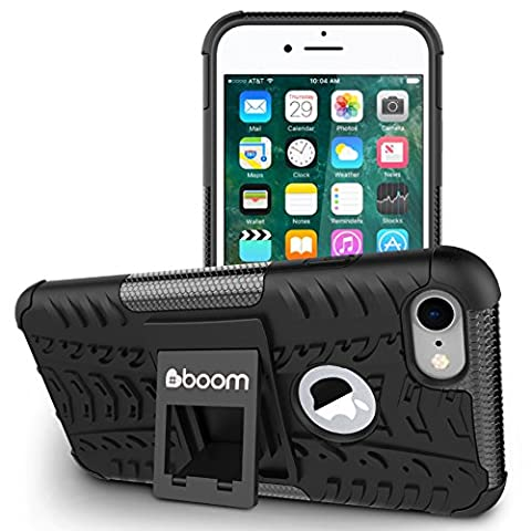 iPhone 8 Case Stand / iPhone 7 Case Kickstand #boom Shock-2. Slim Protective Design. Secure Non Slip Grip. Unique Hybrid Soft & Hard Shockproof Protection Cover.