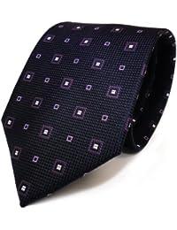 Designer Krawatte von Mexx in Seide Lila Flieder Silber